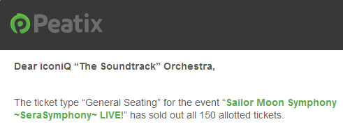 Sailor Moon Symphony SOLD OUT